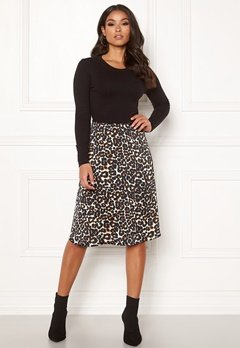Happy Holly Susanna 2in1 dress Black / Leopard Bubbleroom.fi