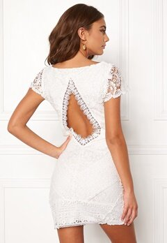 DRY LAKE Heart Dress White Lace Bubbleroom.fi