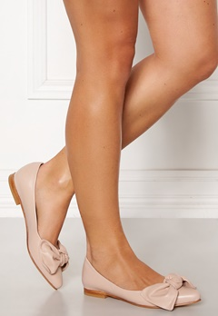 Heelow Sophia Leather Bow Nude Pink Bubbleroom.fi