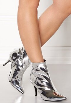 Henry Kole Zoe Leather Boots Silver Bubbleroom.fi