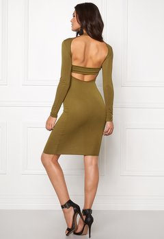 Club L High Neck Open Back Olive Bubbleroom.fi