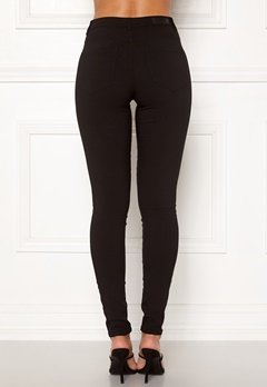 Pieces Highskin Wear Jeggings Black Bubbleroom.fi