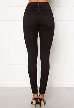 Pieces Highwaist Soft Jeggings Black Bubbleroom.fi