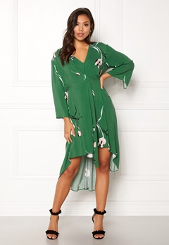 DAGMAR Hirae Dress Green Print Bubbleroom.fi