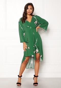 DAGMAR Hirae Dress Green Print Bubbleroom.fi