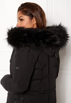 Hollies Collar Fake Fur Black Bubbleroom.fi