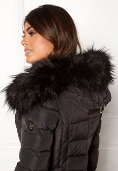 Hollies Collar Hoodedge Fake Fur Blk Bubbleroom.fi