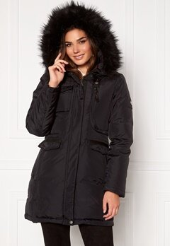 Hollies Livigno Long Coat Black/Black bubbleroom.fi