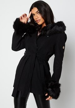 Hollies Olivia Coat Black/Black bubbleroom.fi