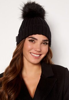 Hollies PomPom Classic Hat Black/Black Bubbleroom.fi