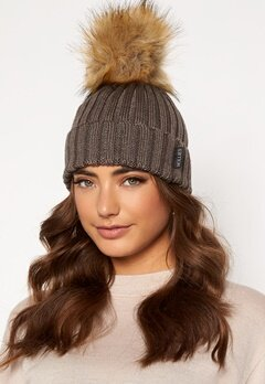 Hollies PomPom Classic Hat Taupe/Natural bubbleroom.fi