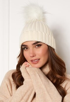 Hollies PomPom Classic Hat White/White Bubbleroom.fi