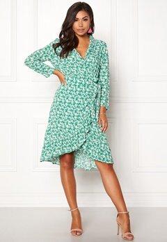 OBJECT Holly Bay S/S Wrap Dress Oatmeal Bubbleroom.fi