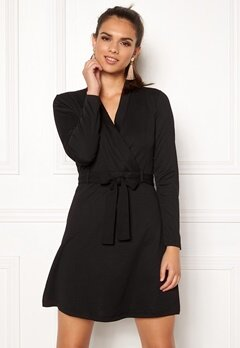 Jacqueline de Yong Honey L/S Dress Black Bubbleroom.fi