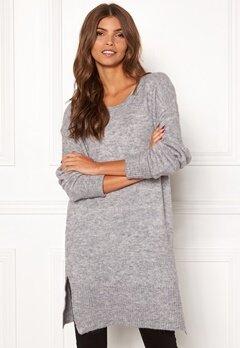 ICHI Amara Long LS Dress Grey Melange Bubbleroom.fi