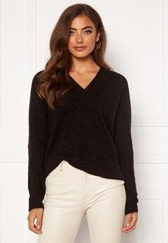 ICHI Amara V LS Sweater Black Bubbleroom.fi