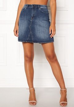 ICHI Gezar Skirt 19058 Mid Blue Bubbleroom.fi