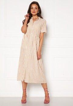 ICHI Gry Dress Natural Striped Bubbleroom.fi