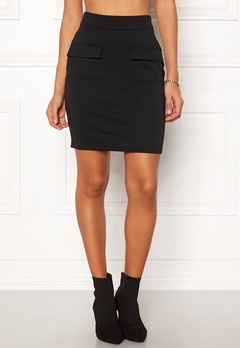 ICHI Kate Pocket Skirt Black Bubbleroom.fi