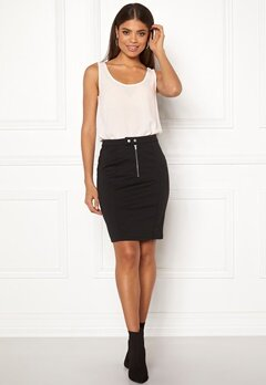 ICHI Kate Slim Skirt Black Bubbleroom.fi