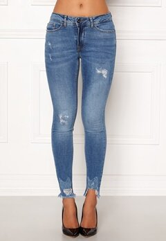 ICHI Lulu Genio Mid Blue Jeans Authentic Mid Blu Bubbleroom.fi