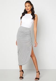 ICHI Luna Skirt Grey Melange bubbleroom.fi