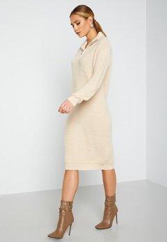 ICHI Novo Knitted Dress 121403 Tapioca bubbleroom.fi
