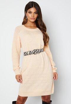 ICHI Novo Knitted Dress 133801 Crystal Gray bubbleroom.fi