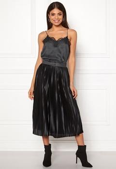 ICHI Pleat Skirt Black Bubbleroom.fi
