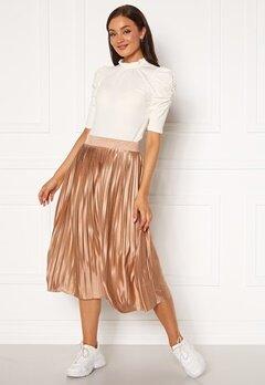 ICHI Pleat Skirt Natural Bubbleroom.fi