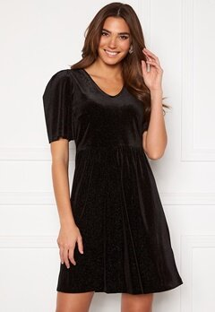 ICHI Rihanna Velvet Glitter Dress Black Bubbleroom.fi