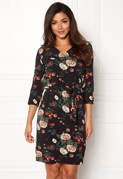ICHI Rosa Dress Black Printed Bubbleroom.fi