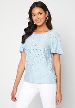 ICHI Umay T-shirt Cashmere Blue Bubbleroom.fi