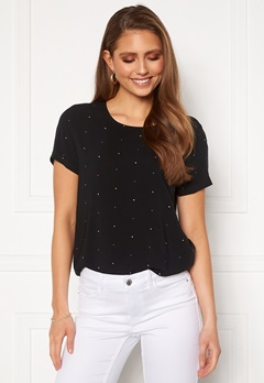 ICHI Vera Blouse Black With Dot Bubbleroom.fi
