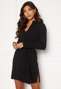 ICHI Vera Dress Black With Dot Bubbleroom.fi