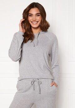ICHI Yose LS Hoodie T-Shirt Grey Melange Bubbleroom.fi