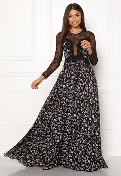 Ida Sjöstedt Alicia Dress Chiffon&Lace Black Bubbleroom.fi