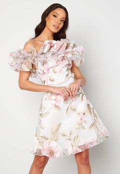 Ida Sjöstedt Arielle Dress White/Pink Bubbleroom.fi