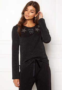 Ida Sjöstedt Magic Sweater Lurex Knit Black Bubbleroom.fi