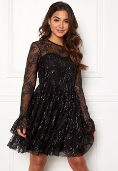 Ida Sjöstedt Tilly Dress Soft Lace Black/Silver Bubbleroom.fi