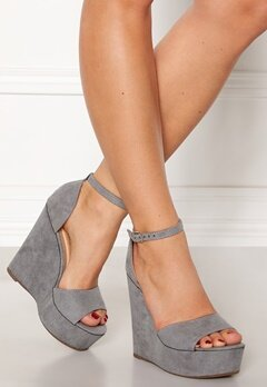 Krush Iso High Heel Sandals Grey Bubbleroom.fi