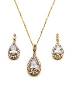 Ivory & Co Belmont Gold Pendant Set Gold Bubbleroom.fi