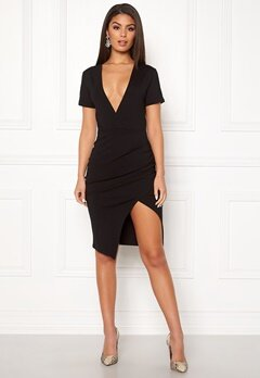 Ivyrevel Deep V-neck Slit Dress Black Bubbleroom.fi