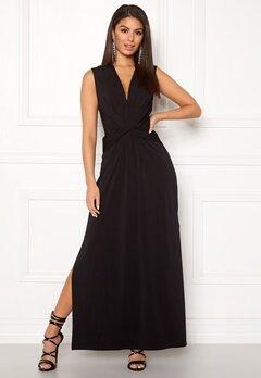 Ivyrevel Drape Front Slit Dress Black Bubbleroom.fi