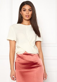 Ivyrevel Drape Front Top Offwhite Bubbleroom.fi