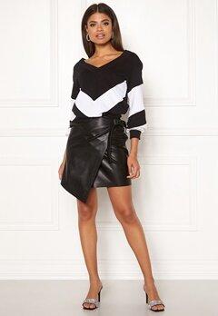 Ivyrevel High Waist Overlap Skirt Black Bubbleroom.fi