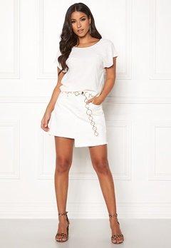 Ivyrevel Raw Edge Denim Skirt White Bubbleroom.fi