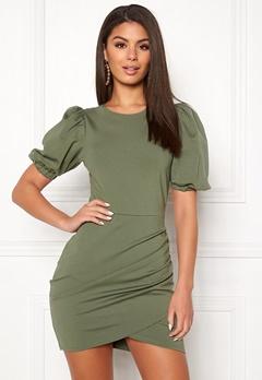 Ivyrevel Short Puff Sleeve Dress Four Leaf Clover Bubbleroom.fi