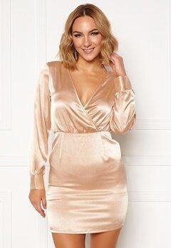 Ivyrevel V Neck Drapy Dress Gold Bubbleroom.fi