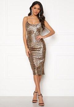 Ivyrevel Velvet Bodycon Dress Black/Brown Leopard Bubbleroom.fi